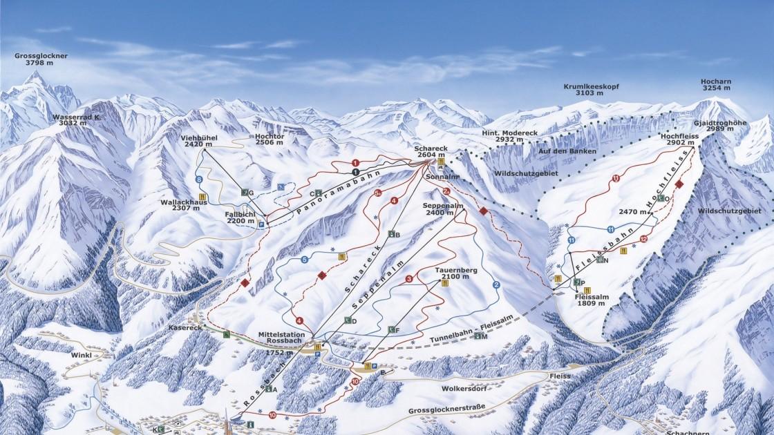 Grossglockner Heiligenblut piste map