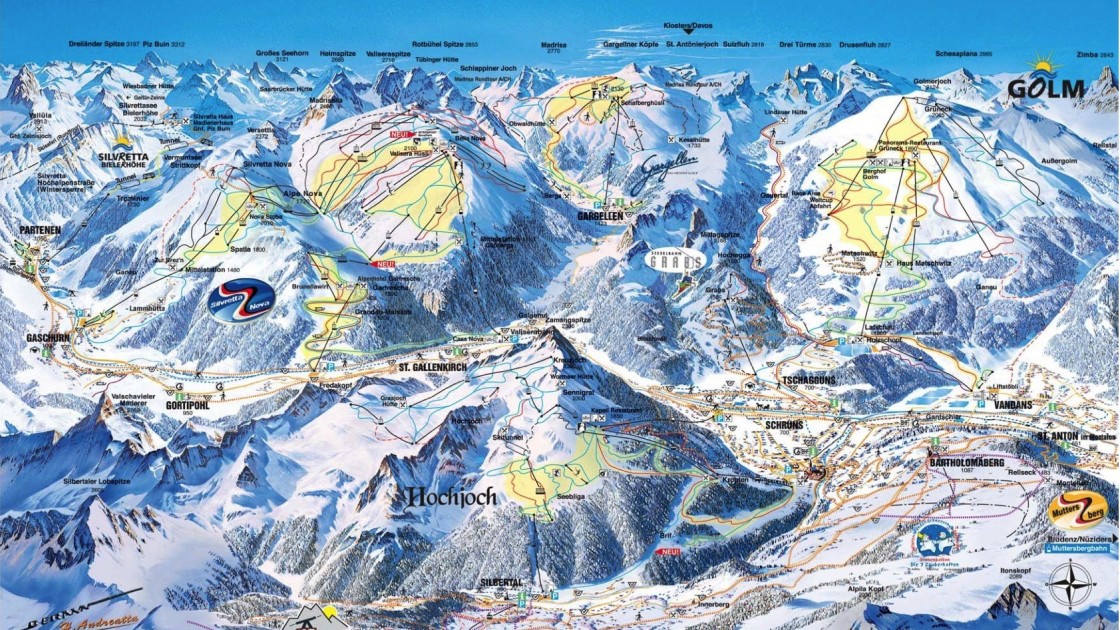 Montafon Valley piste map