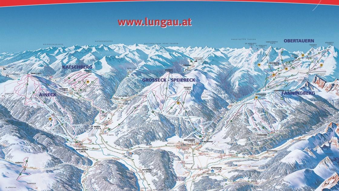 Oberlungau piste map