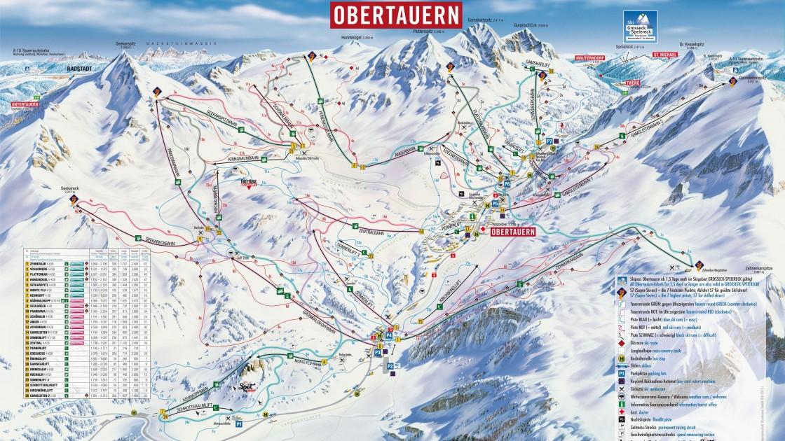 Obertauern piste map