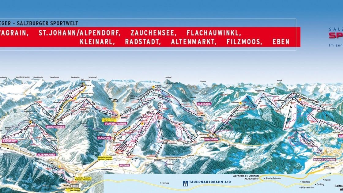 Salzburger Sportwelt piste map