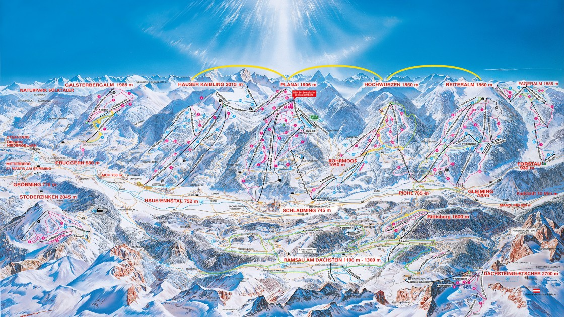 Schadming Austria Piste Map