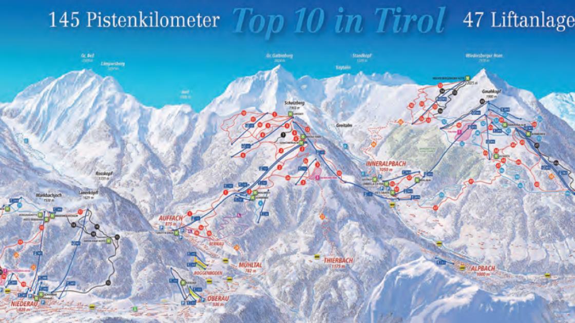 Wildschönau and the Alpbach connection piste map