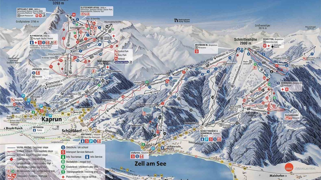 Zell am See piste map