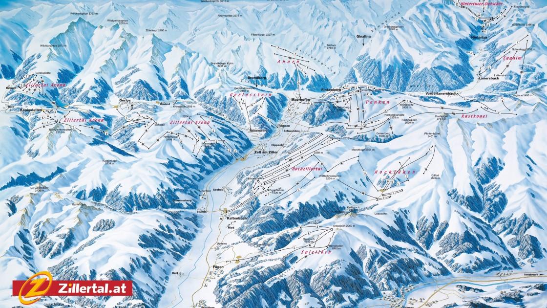 Ziller Valley piste map